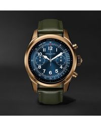Montblanc Summit 2 43.5mm Pvd-coated Stainless Steel And Leather Smart Watch, Ref. No. 127679 - Black