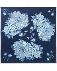 Blue Blue Japan Printed Voile Scarf - Blue