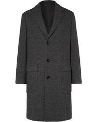 Ermenegildo Zegna - Mélange Wool And Cashmere-blend Coat - Lyst