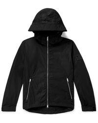 Burberry Loqo-appliquéd Shell Hooded Jacket - Black
