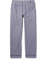 Sleepy Jones Marcel Gingham Cotton Pyjama Trousers - Blue