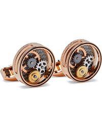 Tateossian Gear Rose Gold-plated Cufflinks - Metallic