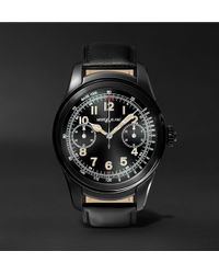Montblanc - Summit 46mm Pvd-coated Stainless Steel And Leather Smart Watch - Lyst
