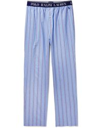 Polo Ralph Lauren Striped Cotton Pyjama Trousers - Blue