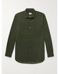 Aspesi Garment-dyed Cotton-corduroy Shirt - Green