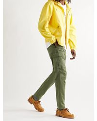 Polo Ralph Lauren Tapered Stretch-cotton Twill Drawstring Cargo Trousers - Green