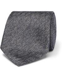 Brioni - 8cm Mélange Herringbone Silk Tie - Lyst