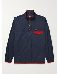 Patagonia Houdini Snap-t Recycled Ripstop Jacket - Blue