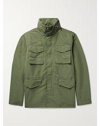 NN07 Brushed-jersey Field Jacket - Green
