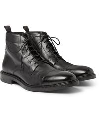 Paul Smith Jarman Cap-toe Leather Boots - Black