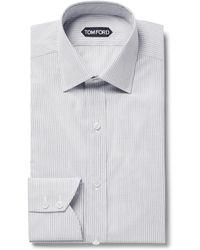 Tom Ford - Slim-fit Striped Cotton Shirt - Lyst