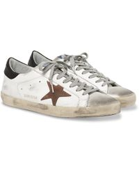 Golden Goose Deluxe Brand Superstar Distressed Leather And Suede Sneakers - White