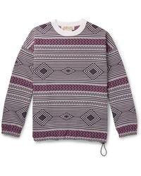 Remi Relief Jacquard-knit Sweatshirt - Purple