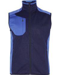 RLX Ralph Lauren - Two-tone Fleece-panelled Jersey Golf Gilet - Lyst