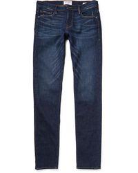 FRAME L'homme Slim-fit Dry Denim Jeans - Blue