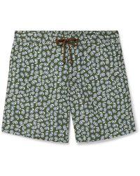 Thorsun Charvet Mid-length Paisley-print Swim Shorts - Green
