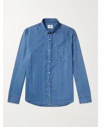NN07 Levon Button-down Collar Shirt - Blue