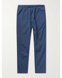 Save Khaki Haven Cotton-poplin Drawstring Trousers - Blue