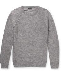 J.Crew - Mélange Cotton-jersey Jumper - Lyst