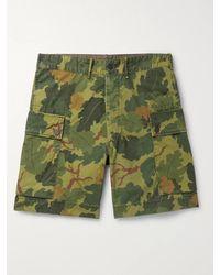 RRL Camouflage-print Cotton-canvas Cargo Shorts - Green