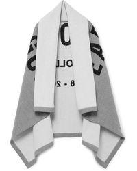 Fear Of God Logo-appliquéd Loopback Cotton-jersey Blanket - Grey