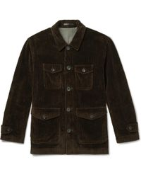 CONNOLLY Cotton-corduroy Field Jacket - Brown