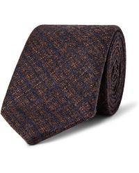 Richard James 7cm Checked Wool And Cashmere-blend Tie - Brown