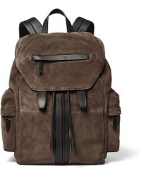 Alexander Wang - Marti Leather-trimmed Suede Backpack - Lyst