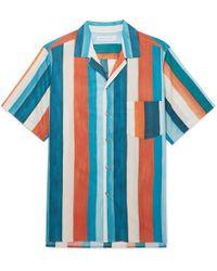 Desmond & Dempsey - Striped Cotton Pyjama Shirt - Lyst