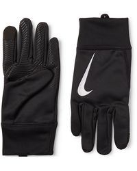 Nike Logo-embroidered Therma Gloves - Black