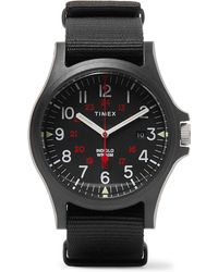 Timex - Acadia Resin And Grosgrain Watch - Lyst