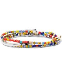 Isaia - Saracino Glass And Silver Wrap Bracelet - Lyst