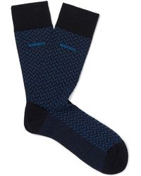 BOSS - Mercerised Stretch-cotton Socks - Lyst