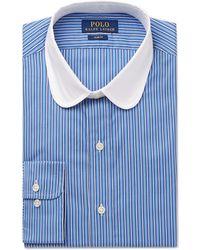 Polo Ralph Lauren - Slim-fit Penny-collar Striped Cotton Shirt - Lyst