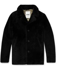 Yves Salomon Shearling Coat - Black
