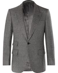 Kingsman Grey Slim-fit Prince Of Wales Checked Wool Suit Jacket - Gray