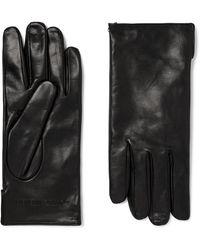 Bottega Veneta Cashmere-lined Leather Gloves - Black