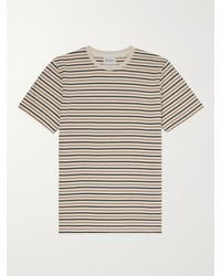 Norse Projects Niels Striped Cotton And Linen-blend T-shirt - Multicolour