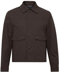 Club Monaco Cotton-blend Twill Chore Jacket - Brown