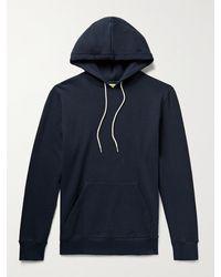 De Bonne Facture Slim-fit Loopback Cotton-jersey Hoodie - Blue