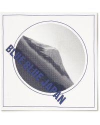 Blue Blue Japan Printed Cotton Bandana - White