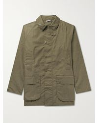 Barbour White Label Beaufort Slim-fit Waxed-cotton Jacket - Green