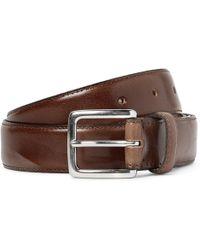 J.Crew | 3cm Brown Leather Belt | Lyst