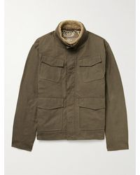 Peter Millar Shearling-trimmed Woven Jacket - Green