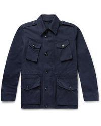 Aspesi - Cotton-canvas Field Jacket - Lyst