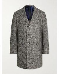 Kiton Herringbone Virgin Wool - Grey