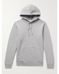 WOOD WOOD Eddie Melangé Organic Loopback Cotton-jersey Hoodie - Grey