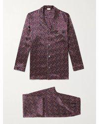 Zimmerli Printed Silk-satin Pyjama Set - Multicolour