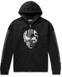 Noon Goons Logo-print Fleece-back Cotton-jersey Zip-up Hoodie - Black