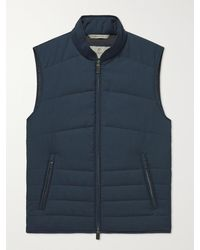 Canali Quilted Wool Gilet - Blue
